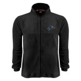 Fleece Full Zip Black Jacket-A w/ Bulldog Head
