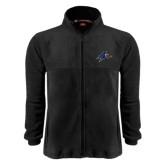 Fleece Full Zip Black Jacket-A w/ Bulldog Head