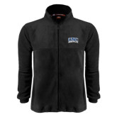 Fleece Full Zip Black Jacket-Arched UNC Asheville