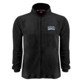 Fleece Full Zip Black Jacket-Arched UNC Asheville