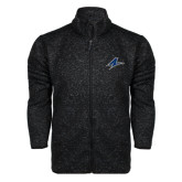 Black Heather Fleece Jacket-A