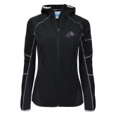 Columbia Ladies Sweet As Softshell Black Jacket-A w/ Bulldog Head