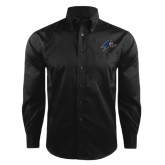 Red House Black Herringbone Long Sleeve Shirt-A w/ Bulldog Head