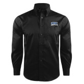Red House Black Herringbone Long Sleeve Shirt-Arched UNC Asheville