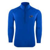 Sport Wick Stretch Royal 1/2 Zip Pullover-A w/ Bulldog Head