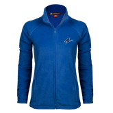 Ladies Fleece Full Zip Royal Jacket-A
