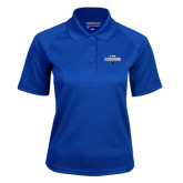 Ladies Royal Textured Saddle Shoulder Polo-2017 Mens Basketball Champions