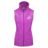 Columbia Ladies Full Zip Fuchsia Fleece Vest-A