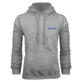 Grey Fleece Hoodie-Arched UNC Asheville