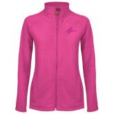 Ladies Fleece Full Zip Raspberry Jacket-A Tone