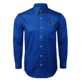 Royal Twill Button Down Long Sleeve-A w/ Bulldog Head