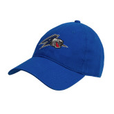 Royal Twill Unstructured Low Profile Hat-A w/ Bulldog Head