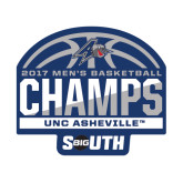 Small Magnet-2017 Mens Basketball Champions Half Ball