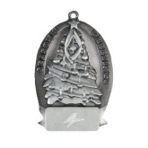 Pewter Tree Ornament-A Engraved