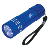 Industrial Triple LED Blue Flashlight-A Engraved
