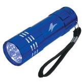 Industrial Triple LED Blue Flashlight-A Engraved