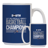 Full Color White Mug 15oz-2017 Womens Basketball Champions Stacked
