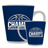 Full Color Latte Mug 12oz-Mens Basketball Champions Half Ball