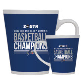 Full Color Latte Mug 12oz-2017 Womens Basketball Champions Stacked