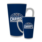 Full Color Latte Mug 17oz-Mens Basketball Champions Half Ball
