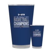 Full Color Glass 17oz-2017 Mens Basketball Champions Stacked