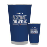 Full Color Glass 17oz-2017 Womens Basketball Champions Stacked