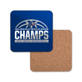 Hardboard Coaster w/Cork Backing-Mens Basketball Champions Half Ball