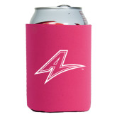 Collapsible Hot Pink Can Holder-A