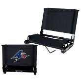 Stadium Chair Black-A w/ Bulldog Head