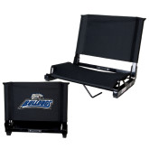 Stadium Chair Black-Bulldogs w/ Bulldog Head