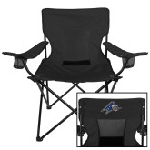 Deluxe Black Captains Chair-A w/ Bulldog Head