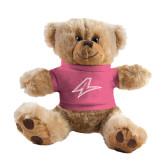 Plush Big Paw 8 1/2 inch Brown Bear w/Pink Shirt-A