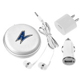 3 in 1 White Audio Travel Kit-A