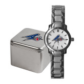Ladies Stainless Steel Fashion Watch-A w/ Bulldog Head