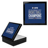 Ebony Black Accessory Box With 6 x 6 Tile-2017 Mens Basketball Champions Stacked