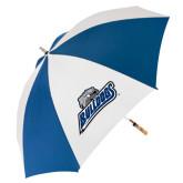 62 Inch Royal/White Umbrella-Bulldogs w/ Bulldog Head