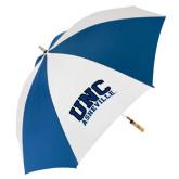 62 Inch Royal/White Umbrella-Arched UNC Asheville