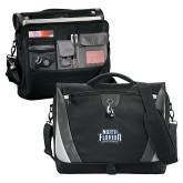 Slope Black/Grey Compu Messenger Bag-North Florida Ospreys