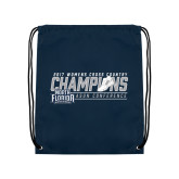 Navy Drawstring Backpack-2017 ASUN Conference Womens Cross Country Champions