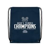 Navy Drawstring Backpack-2018 Mens Tennis Champions