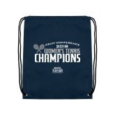 Navy Drawstring Backpack-2018 Womens Tennis Champions