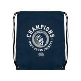 Navy Drawstring Backpack-2018 ASUN Mens Cross Country Champions