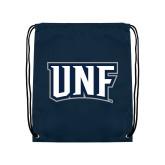 Navy Drawstring Backpack-UNF Monogram