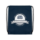 Navy Drawstring Backpack-2017 ASUN Conference Womens Golf Champions