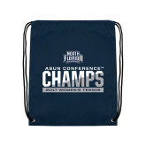 Navy Drawstring Backpack-2017 ASUN Conference Womens Tennis Champions