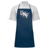 Full Length Navy Apron-Diagonal UNF Monogram
