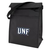 Koozie Black Lunch Sack-UNF Monogram