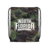 Camo Drawstring Backpack-North Florida Ospreys