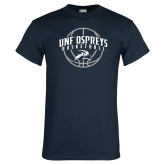 Navy T Shirt-Basketball Arched w/ Ball