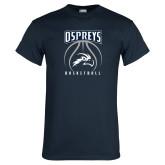 Navy T Shirt-Basketball Stacked